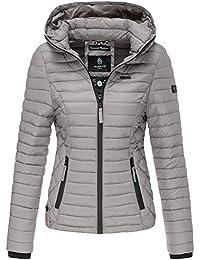 Marikoo Damen Übergangs Steppjacke Herbst Winter Jacke mit Kapuze 11 Farben  mit Camouflage XS - XXL… 0ec9c3959b