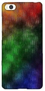 Snoogg Rainbow Rain 2440 Designer Protective Back Case Cover For Xiaomi Mi4I ...