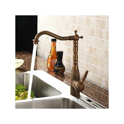 personalizzato rubinetto della cucina in stile antico ottone ...