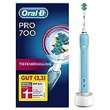 Oral-B PRO 700 Tiefenreinigung Elektrische Zahnbürste, Reinigt gründlich in den Zahnzwischenräumen, blau