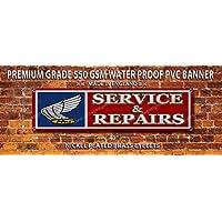 Honda Servicio y reparaciones de Premium calidad PVC garaje/taller Banner