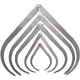 """WEONE doblar-pierna de acero inoxidable Pinza de escultura de arcilla cerámica de medición Herramientas de cerámica Pack de 5 4 """"6"""" 8 """"10"""" 12 """""""