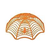 Urn Collana con Medaglione Pendente Creativo Ragnatela Biscotto Frutta Candy Piastra Cestino Ciotola Halloween Party Decor - Arancione, Colore: Arancione (Color : Orange)