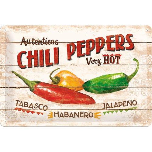 chili-peppers-targa-in-metallo-20x30cm