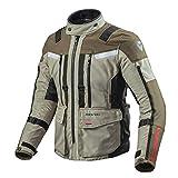 Revit SAND 3 Herren Motorrad Textiljacke Touring - sand schwarz
