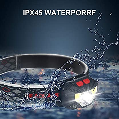 ulocool LED Head Torch, USB Headlamp, Ultra Bright 800 Lumens Rechargeable COB LED Headlight, 70g, with IPX45 Waterproof for Running, Camping, Hiking, Hunting, Climbing, Kids 3