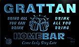 q17584-b GRATTAN Family Name Home Bar Beer Mug Cheers Neon Light Sign