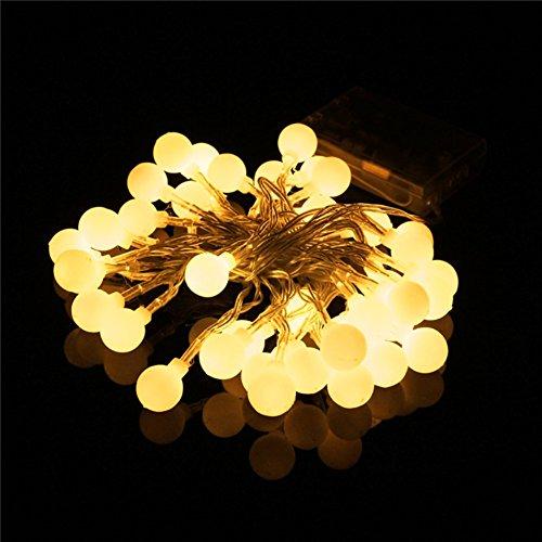 Happyit 3.5m 30pcs Lichterkette führte Ball Schnur Lichter für neue Jahr Weihnachts Dekorationen Hochzeits Party Zuhause Garten Dekoration Lichter (Warm Weiß)