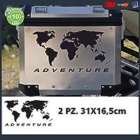 2Pegatinas de mapa del mundo, pegatinas para maletas de BMW R 120011501100GS Adventure, R GS Adv