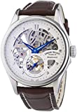 Armand Nicolet Men's Mechanical Watch with Silver Dial Analogue Display and Brown Leather Strap 9620S-AG-P713MR2
