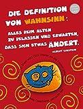 The Art of Stone Erinnerungsgeschenk - Erinnerungsstein mit Karte - Definition Wahnsinn Einstein - Unikat - handbemalter Stein - als Andenken, Deko oder Glücksbringer