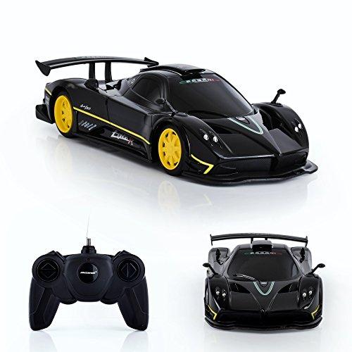 Spire Tech st-232RC Auto Pagani Zonda R Spielzeug Fernbedienung Offizielles Lizenzprodukt Maßstab 1: 24Elektrische Radio Kontrollierte (schwarz-40MHz) - R-tech-felgen