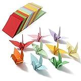Kungfu Mall 520pcs 5x5cm neuf origami papier carré double face feuilles colorées artisanat bricolage