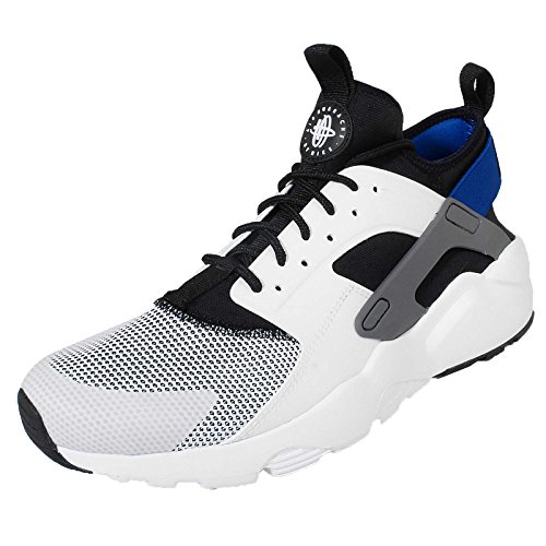 Nike Air Huarache Run Ultra, Chaussures de Running Entrainement Homme, Gris, 9,5 UK / 44,5 EU / 10,5 US Blanco (White / Racer Blue-Black-Drk Gry)