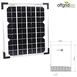 panneau solaire 10w wp 12v ce tuv photovolta que monocristallin bricolage. Black Bedroom Furniture Sets. Home Design Ideas