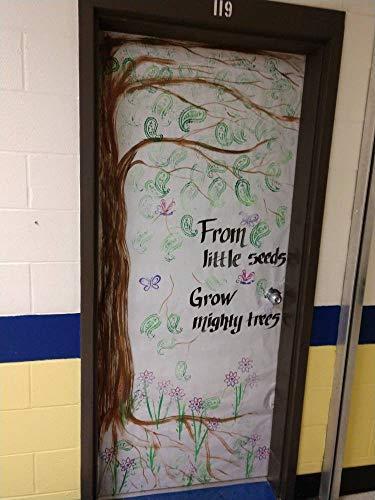 Zhaoshoping Lehrer Klassenzimmer dekoriert Tür fertig zum Ankleben auf Ihre Klassenzimmertür, Türdekoration, Verschiedene saisonale Türdekoration, Bauernhaus-Stil Holzschild