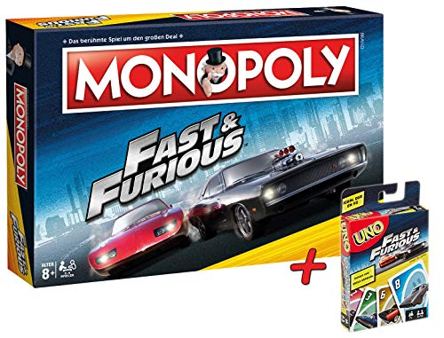 Monopoly Fast & Furious + UNO! Fast & Furious Kartenspiel