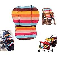 Amcho Cochecito de bebé / Trona / Cojín Coche Cojín Protector Película Transpirable Impermeable Pad (Rainbow Stripes)