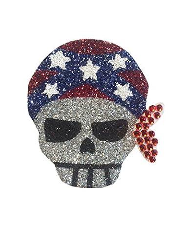 Glitter Tattoo Pirate Skull Bandana