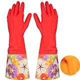Handschuhe erthome Gummi Latex Geschirrspülen Reinigung lange warme Handschuhe Haushalt