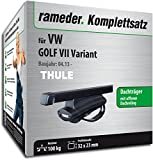 Rameder Komplettsatz, Dachträger SquareBar für VW Golf VII Variant (116020-11221-10)