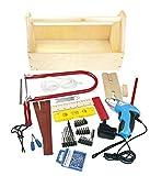 Unbekannt Leomark Holzwerkzeugkasten und Schraubendreher für Kinder Enthält Mehr als 40 Elemente, Holz Werkyeugkasten, Kompakter Werkzeugkoffer Holzschrank mit Werkzeug