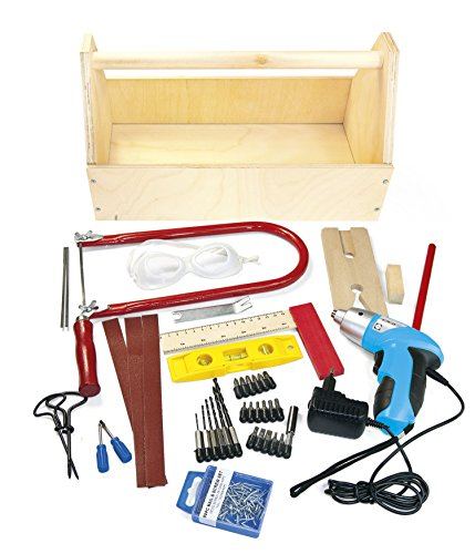 Holzwerkzeugkasten und Schraubendreher enthält mehr als 40 Elemente