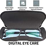 Intellilens® Premium Blue Cut Zero Power Spectacles for Eye Protection from UV