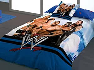 WWE Wrestling Linge de lit housse de couette Catch Superstars Undertaker Batista 140x200cm+60x60cm