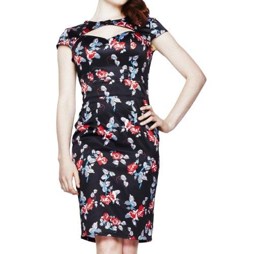 Hell Bunny dell'abito ROSALIE DRESS 4221 black Nero