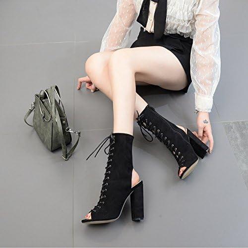 ZHZNVX La La La nuova Roma è la a tacco alto scarpe con guida alta stivali a frossodo, la spessa nero con,35 B07CGCX2S3 Parent | Di Prima Qualità  | a prezzi accessibili  d691d8