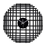 Yuan Wanduhren Moderne Metall-Minimalistische Wanduhr - Wohnzimmer Schlafzimmer Art-Deco-Uhr - Silent Wanduhr/Schwarz /@