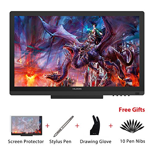 Huion KAMVAS GT-191 HD Grafikzeichentablett-Monitor mit 8 192 Druckstufen 19,5 Zoll HD 1 920 x 1 080 Stift-Display