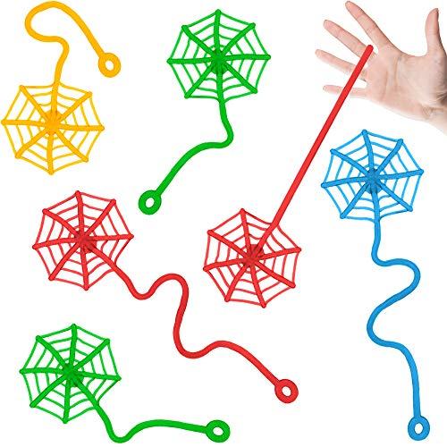 German Trendseller® - 50 x Ultra Sticky - Glibber Klatsch - Spinnennetz für Kinder ┃ NEU ┃ Kindergeburtstag ┃ Mitgebsel ┃ Glibber & Stretchy ┃ 50 Stück