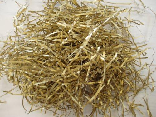 Shredded Paper Hamper Filling - Metallic Gold - 500g