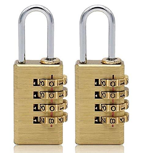 Sólido latón 2 PCS Combination Lock 4 Cobre Candado
