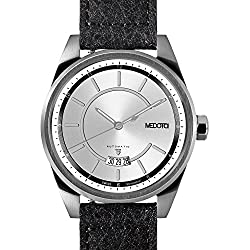 MEDOTA Grancey Men's Automatic Water Resistant Analog Quartz Watch - No. 2701 (Silver/Silver)