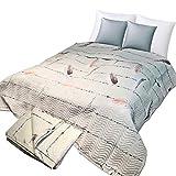 JEMIDI Tagesdecke 220cm x 240cm Doppelbett Baumwolle Bettüberwurf Betthusse Tagesdecken Bettdecken Bettüberwürfe Bettenüberwurf Bett Decke