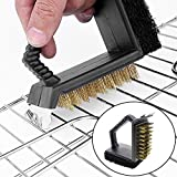 #7: HOKIPO® 3 in 1 Plastic BBQ Grill Cleaning Handy Brush with Scrapper