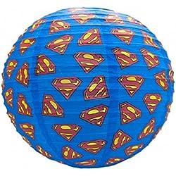 DC Comics–Papel lámpara techo–Superman–Logo