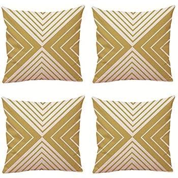 Nunbee 4 Pi/èces Housse de Coussin Linge de Maison Style Nordique Coussin Decoration canap/é Deco canap/é scandinave Deco D/écoration de Voiture 45cm Cerf 45