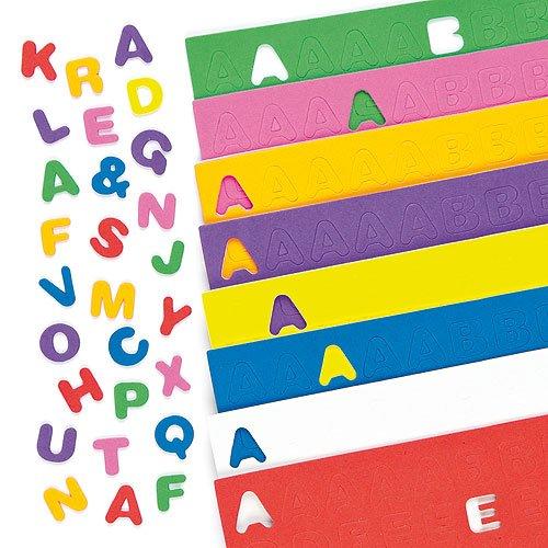 mstoff-Großbuchstaben zum Basteln für Kinder - ideal für Schriftzüge und als Dekoration - 600 Stück ()