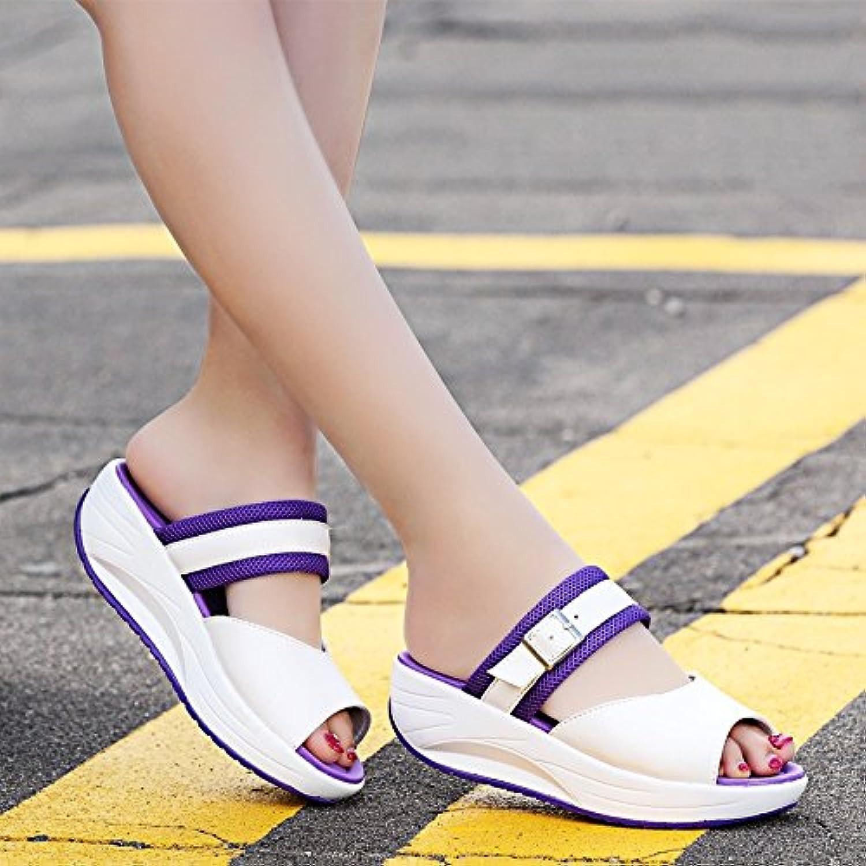 OME&QIUMEI Zapatillas Fría Chicas Usan Zapatos De Playa En Verano, En Primavera Y Verano Office 38 Violeta  -