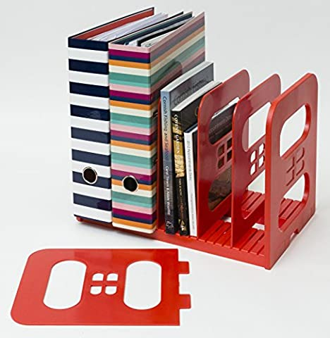 Popinjay MaXi-File Adjustable Divider Rack de classement en plastique (Rouge)