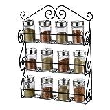 Taylor & Brown Contenitore da parete a 3 livelli, per sportelli della cucina, per spezie ed erbe, può contenere fino a 21 barattoli di dimensioni standard della maggior parte dei marchi