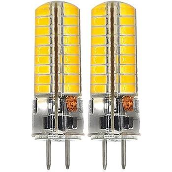 MENGS® 2 unidades GY6.35 6 W LED Bombilla 72 x 5730 SMD Blanco cálido 3000 K AC/DC 12 V con revestimiento de silicona