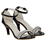MISTO VAGON WOMEN AND GIRLS BRIDAL SANDALS PARTY WEAR SANDALS FASHION SANDALS WEDDING SANDALS HIGH HEEL SANDALS GOLD SANDALS WHITE SANDALS POINTED HEEL SANDALS PENCIL HEEL SANDALS COMFORTABLE SANDALS WITH ARTIFICIAL GLASS DIAMOND WORK ON TOP VJ1214