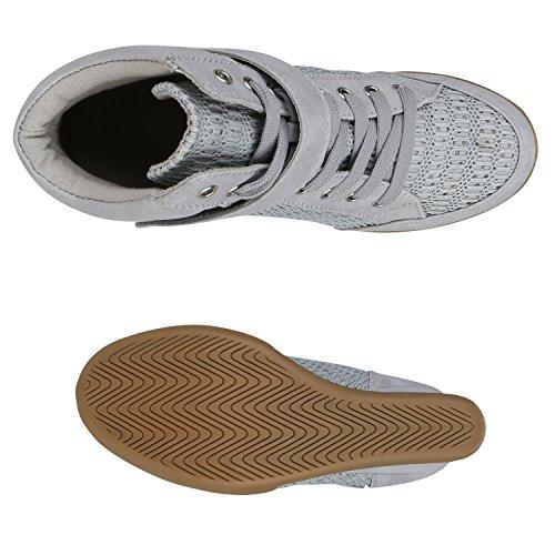 ... Stivali Paradise Sneakers Da Donna Sportive Zeppe Glitter Perforazione  Scarpe Con Zeppa Con Zeppa Scarpe Sportive d01808e5a28