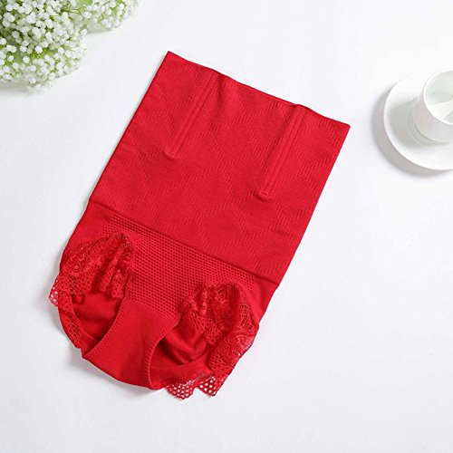 Fzmix Slimming Underwear Bodysuit Women Waist Trainer Slimming Belt Body Shaper Slimming Corset Shapewear Hot Shaper Control Pants Red