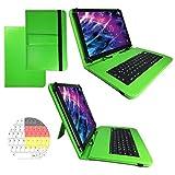 Deutsche QWERTZ Tastatur für Alldaymall A88X 7 Zoll Tablet PC Schutz Hülle Etui mit Standfunktion - 7